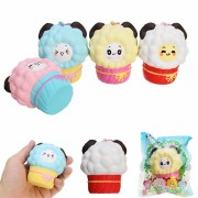 Vlampo Squishy Little Lamb Ice Cream Cupcake Slow Rising Licensed With Packaging Collection Gift Decor Toy