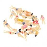 Pack of 20pcs 1:50 Painted Model Beach People Figures