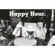 Merkloos Drank/kroeg poster Happy Hour 61 x 91 cm wanddecoratie