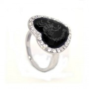 Szív alakú, skorpiós, Swarovski kristályos gyűrű-8