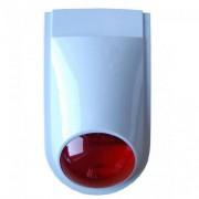 Mini sirena de exterior cu flash SIR 359B, 105 dB, 9-15 V, 1.8 Ah/7.2 V