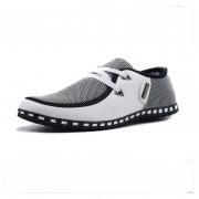 Zapatos Lienzo De Encaje De Negocios Para Hombre - Blanco