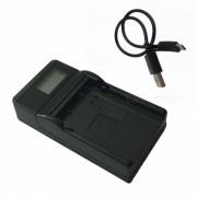 LPE8 LCD cargador de bateria USB para Canon LP-E8 EOS 700D 650D 600D-Negro