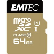 Emtec Micro SD Class10 Gold+ 64GB flashgeheugen flashgeheugen