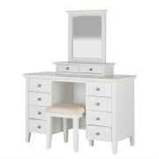 Make-uptafel Abbey incl. hocker - wit, Maison Belfort