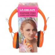 Merkloos Koptelefoon stereo neon oranje