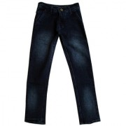 Yale Blue Denim Jeans material cotton pattern solid fit regular men jeans