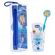 Chicco Set za oralnu njegu u torbici Plavi
