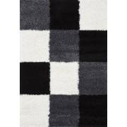 Merinos Hoogpolig Vloerkleed Shaggy Plus 910 Black White 160 x 230 cm