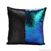 ARIEL Zöld-Fekete sellőpárna 40x40 cm