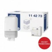 Pachet dispenser hartie igienica bulk Tork + 1 bax consumabil Tork