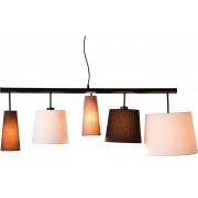 Kare Design Verstelbare Hanglamp Parecchi 5-Lichts B140 Cm - Multikleur