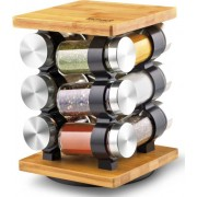 Fűszertartó készlet forgatható állvánnyal 15,7 x 15,7 x 22,2 cm LT7010