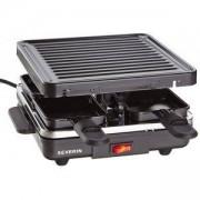 Електрическа скара тип - раклет с четири мини тави SEVERIN 2686, Мощност 600 W, Черен, SEV.2686