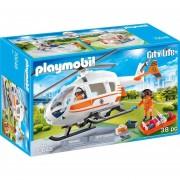 Playmobil Linea Rescate - Helicoptero De Rescate - 70048