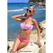 Klassiskt bikini-set med rutig topp