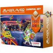 Joc de constructie magnetic 46 piese Magplayer
