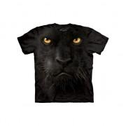 The Mountain Kinder T-shirt zwarte panter 98-104 (S) Zwart