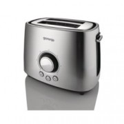 Тостер Gorenje T1000E, 7 степени, термостат, функция размразяване, 1000W, металик