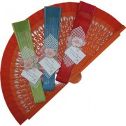 Decorated Wedding Fans - Assorted Colours (ref: 02069)