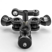 ZHENHUA Robusto Durable Multi-Función de Doble Cabeza de la Bola Zapata Adaptador de Montaje del Brazo mágico con 3/8 '' 1/4 '' Tornillo for Sony Canon Nikon DSLR Conveniente práctico