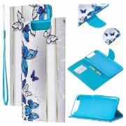 Bolsa tipo Carteira Wonder Series para Samsung Galaxy A80 - Borboleta Azul