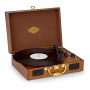 Auna Nostalgy by Peggy Sue Tocadiscos retro LP USB AUX aspecto de madera/oro (TTS6-Peggy Sue WD)