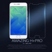 NILLKIN előlap védő karcálló edzett üveg, Amazing H+ PRO, 9H, 0,2mm, A képernyő sík részét védi, Kameralencsevédő fóliával - Meizu M5s - GYÁRI