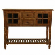 Decor Therapy Morgan Natural 2-Door Console Table, Natural Wood
