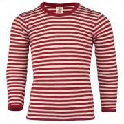 Engel Kinder Shirt L/S Intimo lana merinos (140, rosso/beige)
