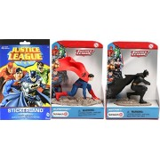 Justice League Collection Schleich Scenery Batman & Superman Action Figure 2 Pack & DC Comics Stickerland Stickers 295+ character decals / collectible toy bundle set