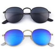 Debonair Oval Sunglasses(Multicolor)