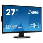 iiyama 27' TN, 2560x1440 WQHD, 1ms, FreeSync, 350cd/m², DisplayPort, HDMI, DVI, Speakers, USB-HUB(2x3.0)