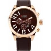Ceas casual barbatesc Curren Quartz Chronometer cu afisaj data 8198-2 maro