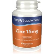 Simply Supplements Zinc 15mg - 360 Comprimés