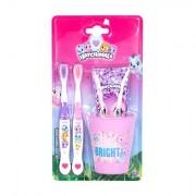 Hatchimals Hatchimals confezione regalo spazzolino da denti 2 pz + dentifricio 75 ml + bicchiere per spazzolino per bambini