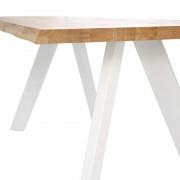DOHERTI Lámpara de sobremesa metal marrón pantalla blan