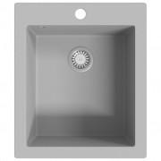 vidaXL Overmount Kitchen Sink Single Basin Granite Grey