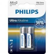 Baterii philips Ultra baterie alcalina, LR6, AA, 1,5V, 2 piese (LR6E2B / 10)