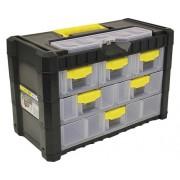 Cutie plastic depozitare & organizare Prosperplast Multicase Cargo 400x200x260 mm, 6 sertare