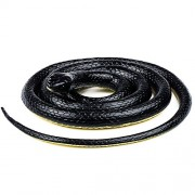 k v traders Realistic Rubber Black Mamba Snake Toy 28 Inch Long set of 4 snakes colur may very