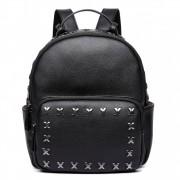 Stylový dámský módní batoh E6649 černý