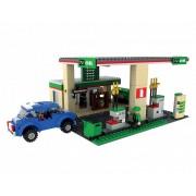 Joc de constructie My City Benzinarie, 435 piese, 2 figurine, 6 ani+