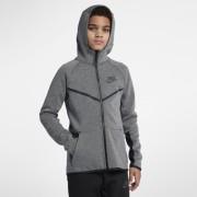 Sweatà capuche entièrement zippé Nike Sportswear Tech Fleece Windrunner pour Garçon plus âgé - Gris