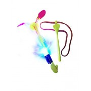Whistling Helicopter Slingshot Outdoor LED Light-up Flying Toy for Kids and adults - fun at the beach, park, birthday parties or even camping and the 4th of July (4-PACK) by Whistlecopter