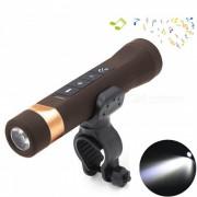 Altavoz de Bluetooth de YouOKLight? linterna de la bicicleta de carga del USB-marronpardo