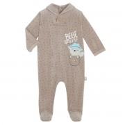Petit Béguin Pyjama bébé velours Little Cowboy - Taille - 3 mois