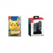Pokemon Let´s Go, Pikachu! Nintendo Switch + PowerA Cargador Joy Con Switch