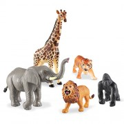 Zaid Collections 12pc Jumbo Wild Animals - 12 Assorted Jungle Animals and Zoo Animals - Great Educational Toy for Toddlers PVC