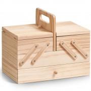 ZELLER Dřevěný box na šicí potřeby - klasický s 5 přihrádkami, ZELLER